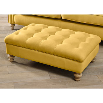 Chesterfield Fabric Buttoned Footstool in 5 Colours