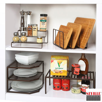 Seville Classics 4 Piece Kitchen Organiser Set