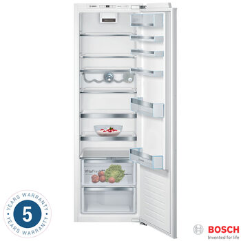 Bosch KIR81AFE0G, Integrated Fridge A++ Rating in White