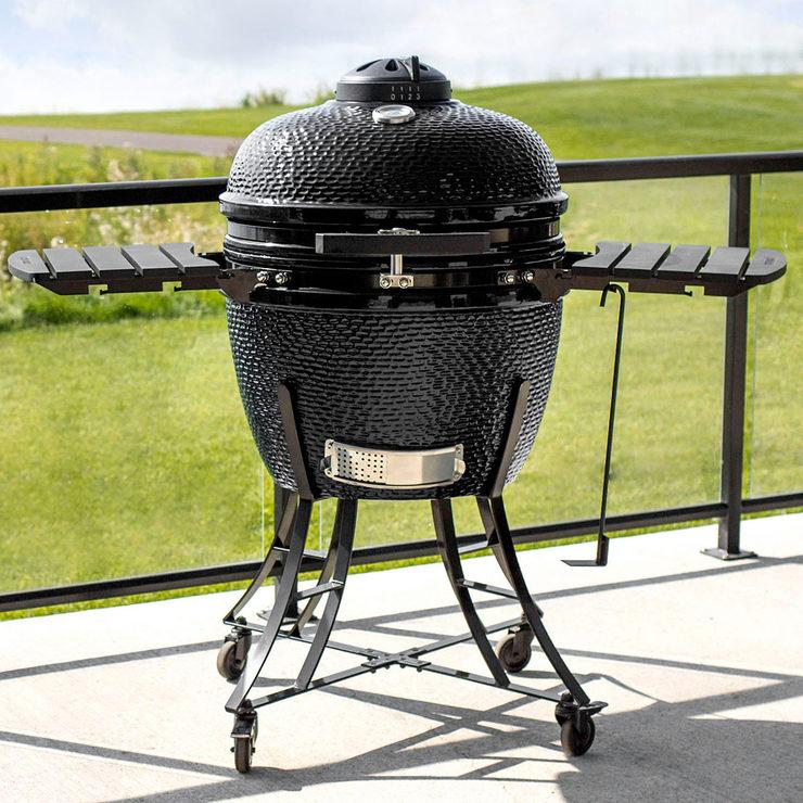 Louisiana Grills 24 (60 cm) Ceramic Kamado Charcoal Barbecue - Black |  Costco UK