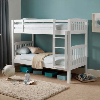 Metro Wooden Bunk Bed in Opal White