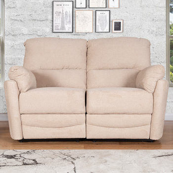 Minster 2 Seater Fabric Power Recliner Sofa in Rich Beige