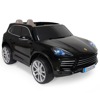 Injusa 12V Electric Porsche Cayenne S Sport Ride On in Black (3+ Years)