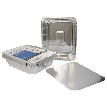 Jena 12 Pack Large Foil Trays & Lids
