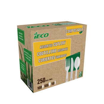 iECO Compostable Cutlery, Pack of 200