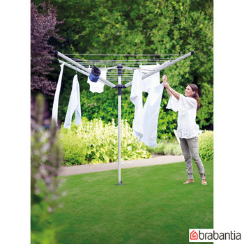 Brabantia Lift-O-Matic 60m Rotary Airer with Ground Spike + Cover