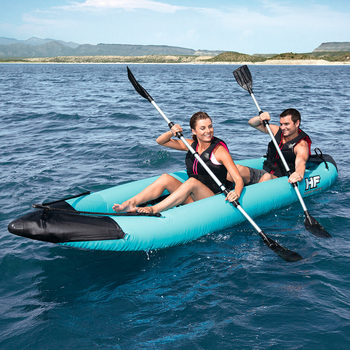 Hydro-Force™ 12.6ft (384cm)  Bolt 2 Person Inflatable Kayak with 2 Paddles