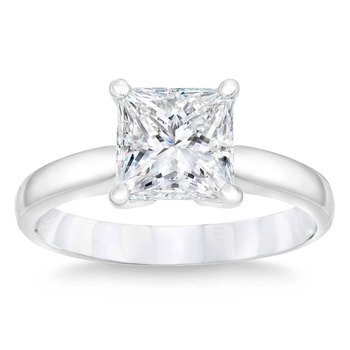 3.40ct Princess Cut Diamond Solitaire Ring, Platinum