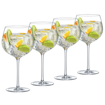 Ella Sabatini Crystal Gin Glasses, 4 Pack