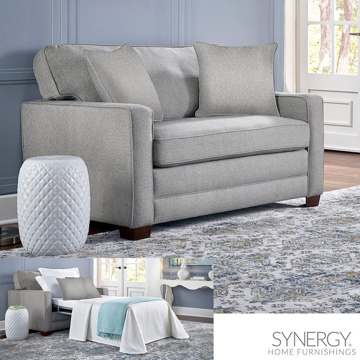 Synergy Home Furnishings Grey Fabric Sleeper Chair Costco Uk