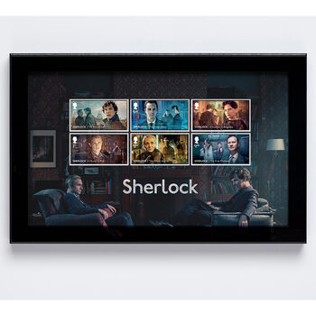 Sherlock Framed Royal Mail® Collectable Stamps
