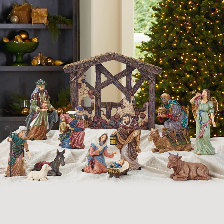 kirkland signature 13 piece tabletop christmas nativity set