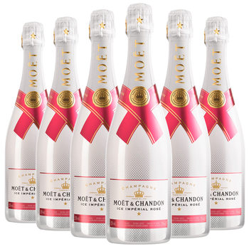 Moët & Chandon Ice Imperial Rosé NV Champagne, 6 x 75cl