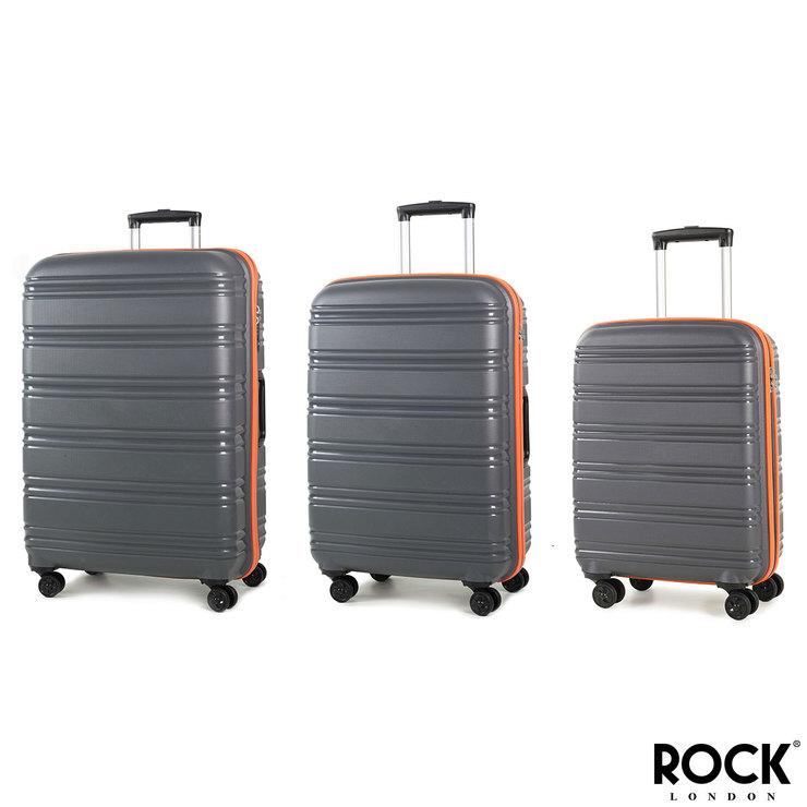 56e3371344dbd Rock Impact II 3 Piece Hardside Suitcase Set in Grey