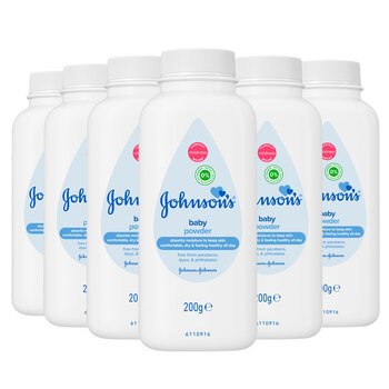 Johnson's Baby Powder, 6 x 200g