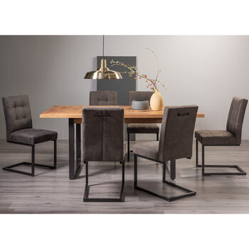 Bentley Designs Greenwich Extending Dining Table + 6 Cantilever Chairs, Seats 6-8