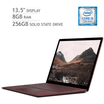 Microsoft Surface Laptop, Intel Core i5 ,8GB RAM, 256GB Solid State Drive, 13.5 Inch Notebook in 4 Colours