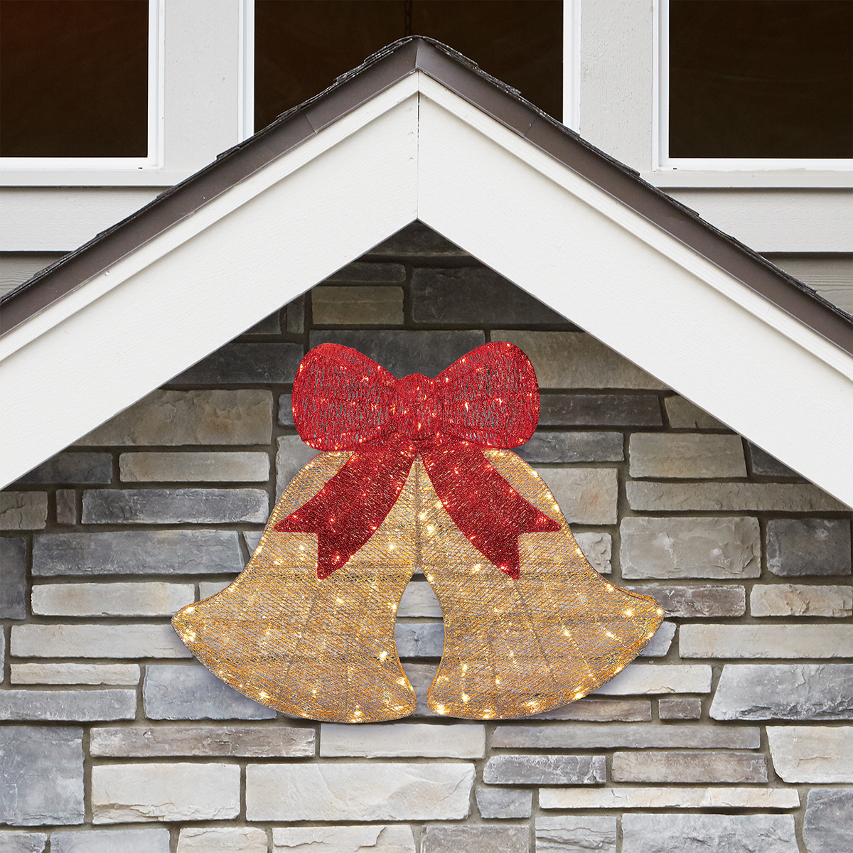 30 Inch 78 Cm Indoor Outdoor Christmas Glitter Bells With 200 Led Lights Costco Uk