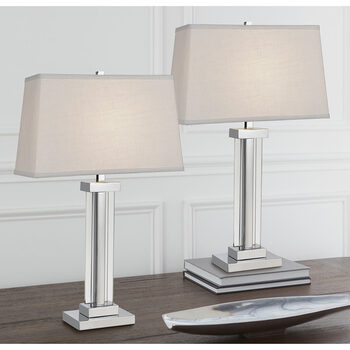 Kate Crystal Table Lamps, 2 Pack