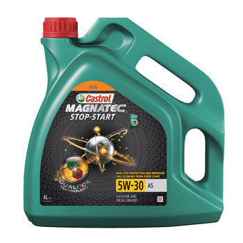 Castrol Magnatec Stop - Start 5W-30 A5 Car Engine Oil, 4 Litres – 4 Pack (16 Litres)