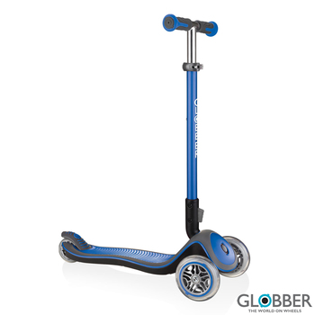 Globber Elite Deluxe Scooter in Navy Blue (3+ Years)
