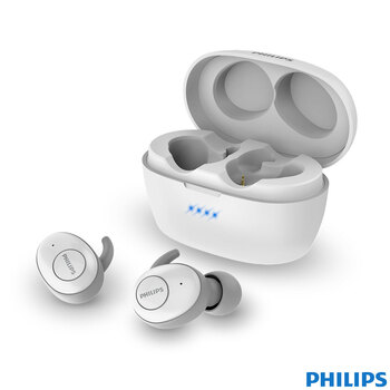 Philips UpBeat In Ear True Wireless Headphones in White, TAT3215WT/00