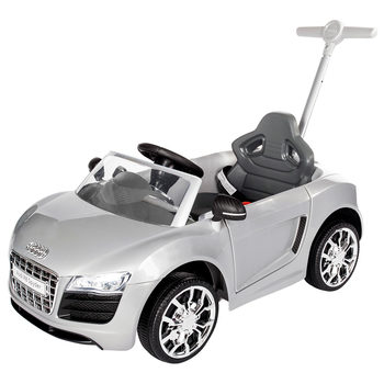 Rollplay Audi R8 Spyder Children's Push Car Ride On - Silver (12+ Months)