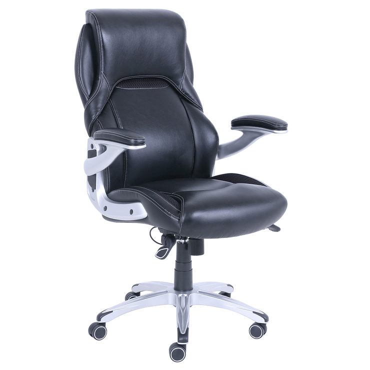 Costco Leather Dining Chairs: True Innovations Black Bonded Leather Managers Chair