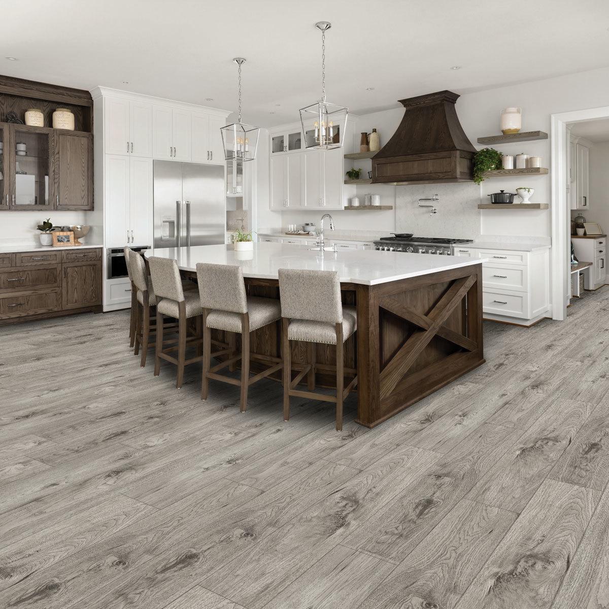 Golden Select Modern Grey Rigid Core SPC Luxury Vinyl Flooring Planks with  Foam Underlay - 5.5 m² Per Pack  Costco UK