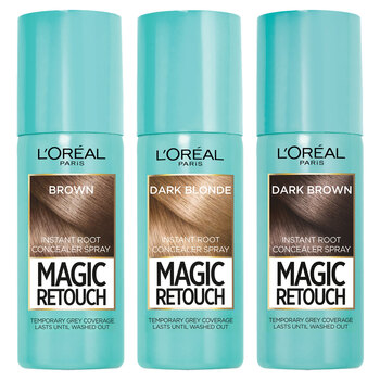 L'Oreal Magic Retouch Instant Root Concealer Spray, 3 x 75ml - Available in 3 Colours