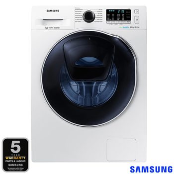Samsung WD90K5B10OW/EU, 9/6kg, 1400rpm Addwash™ ecobubble™ Washer Dryer B Rating in White
