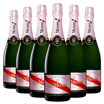 Mumm Rosé NV Champagne, 6 x 75cl, with Gift Box