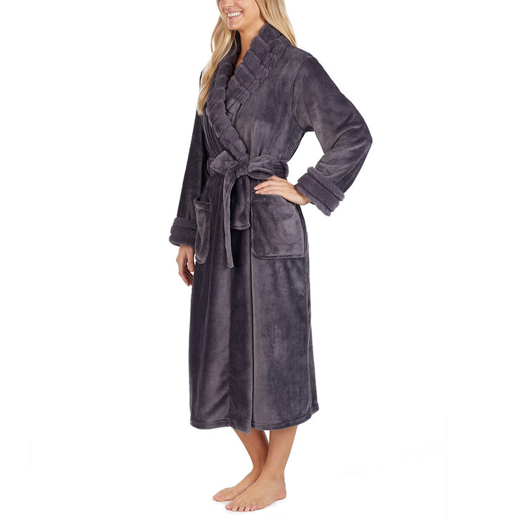 5af4a9d697 Carole Hochman Women s Plush Robe in Charcoal