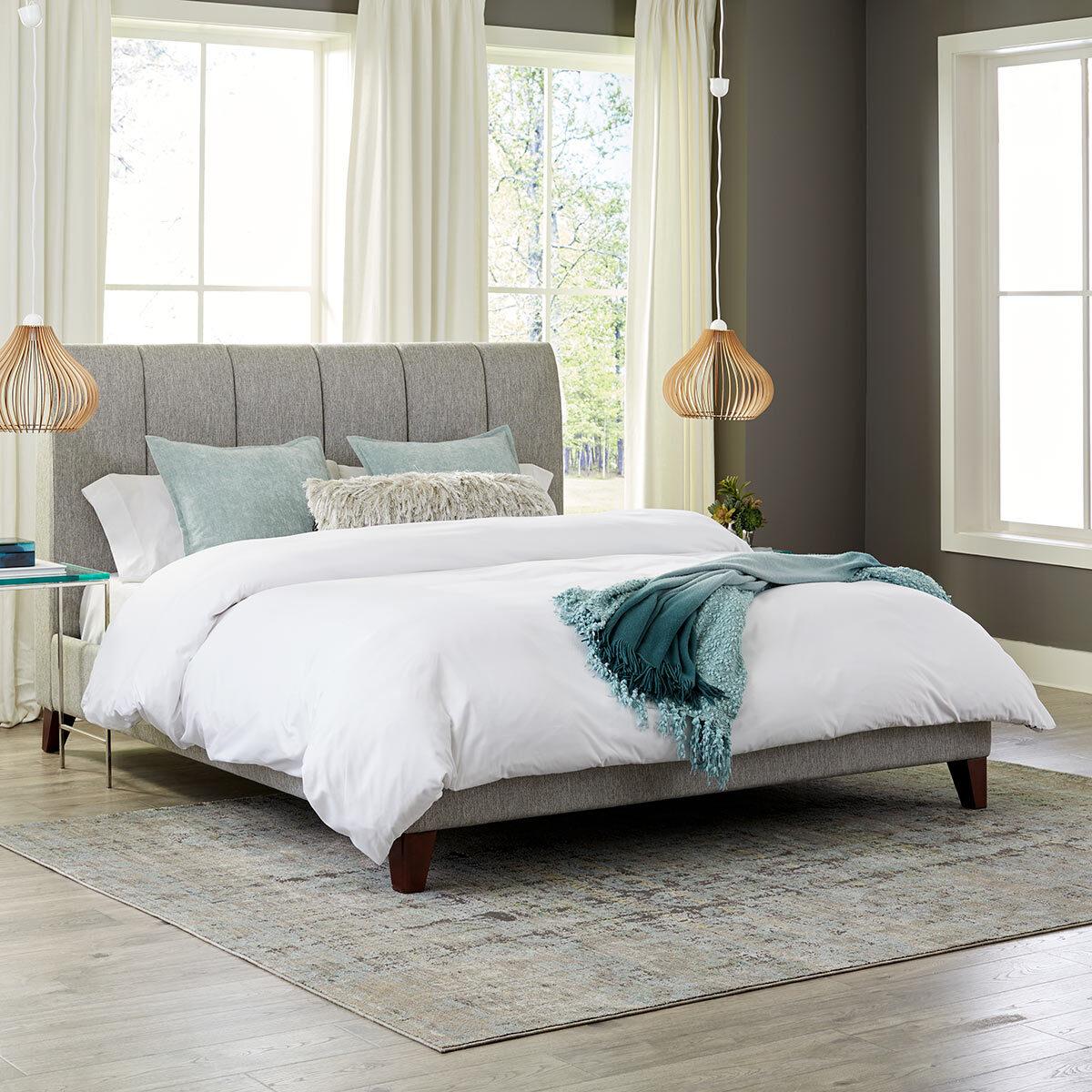 Northridge Home Grey Upholstered Bed Frame Double Costco Uk