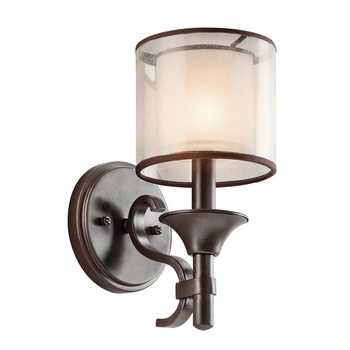 Kichler Lacey One Light Wall Light in Mission Bronze