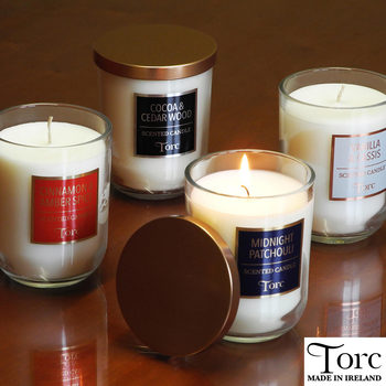 Torc Fragranced Candles with Lids, 4 Pack