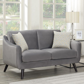 Bainbridge Grey Velvet 2 Seater Sofa