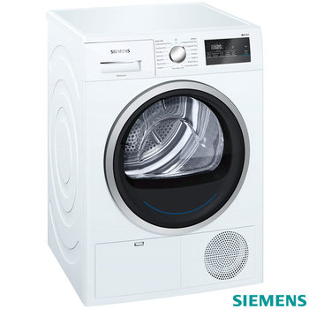Siemens WT45N201GB IQ300, 8kg, Condenser Tumble Dryer B Rating in White