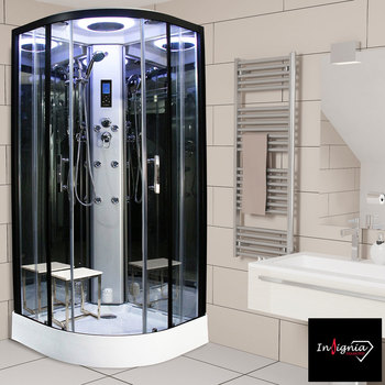 Insignia Diamond 900mm Quadrant Steam Shower in 2 Colours