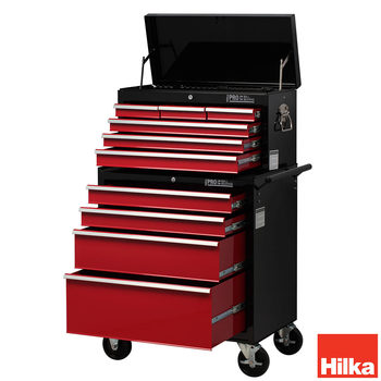 Hilka HD Pro Steel 10-Drawer Combination Tool Chest Trolley