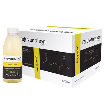 Rejuvenation Water Ginger & Lime Amino Acid Enriched Spring Water, 12 x 500ml