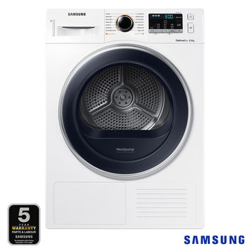 Samsung DV90M5000QW/EU, 9kg, Heat Pump Tumble Dryer A++ Rating in White