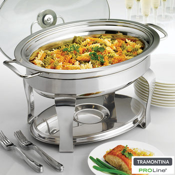 Tramontina Proline Oval Chafing Dish, 3.9L