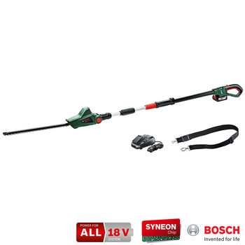 Bosch UniversalHedgePole 18V Cordless Telescopic Pole  Hedge Trimmer 430mm + Battery Pack + Charger