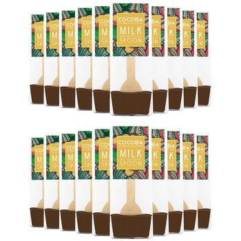 Cocoba Hot Chocolate Spoons, 20 x 50g in 3 Flavours