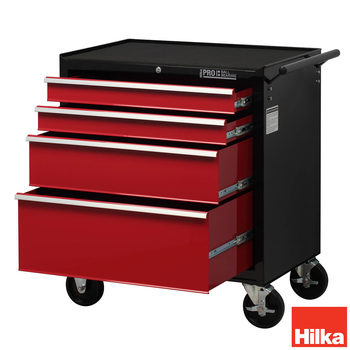 Hilka HD Pro Steel 4-Drawer Tool Chest Trolley