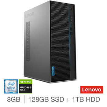 Lenovo IdeaCentre T540, Intel Core i3, 8GB RAM, 128GB SSD + 1TB HDD, NVIDIA GeForce GTX 1650, Gaming Desktop PC, 90LW005VUK