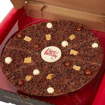 The Gourmet Chocolate Pizza Company - Happy Birthday Pizza, 10 Inches