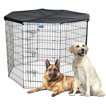 Lucky Dog Exercise Pen + Cover - Large (H 121.9cm)
