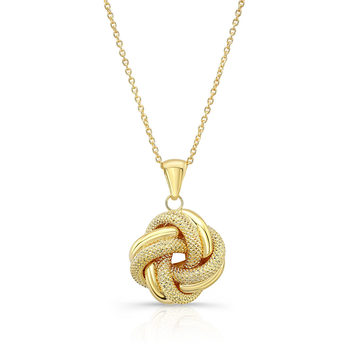 14ct Yellow Gold Love Knot Pendant